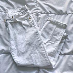 Michael Kors White Crop Pants